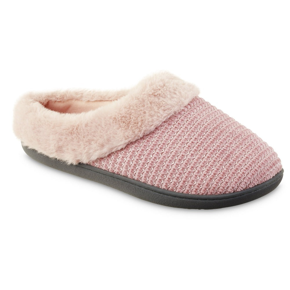 Women's Chenille Ann Hoodback Slippers in Evening Sand Right Angled View