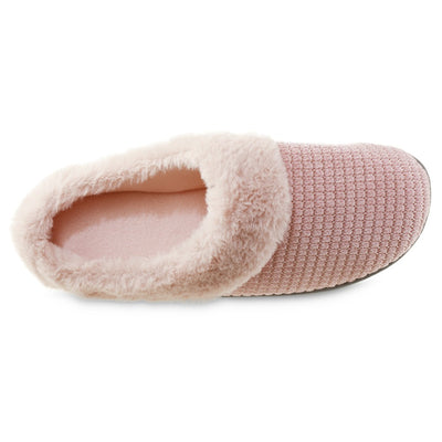 Women's Chenille Ann Hoodback Slippers in Evening Sand Inside Top View
