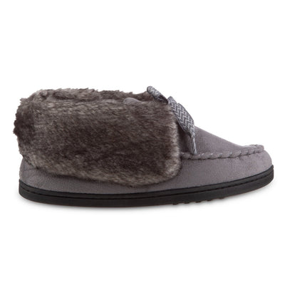 Women's Microsuede Nelly Moc Bootie Slippers in Ash Profile
