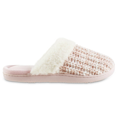 Women's Sweater Knit Shelia Clog Slippers in Evening Sand Pink Profile