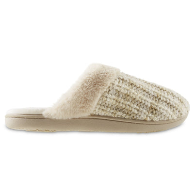 Women's Sweater Knit Shelia Clog Slippers in Sandtrap Profile
