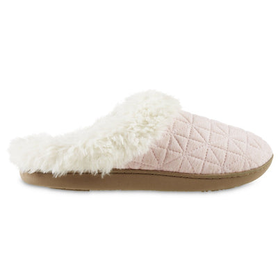 Women's Recycled Quilted Bridget Hoodback Slippers in Evening Sand Pink Profile