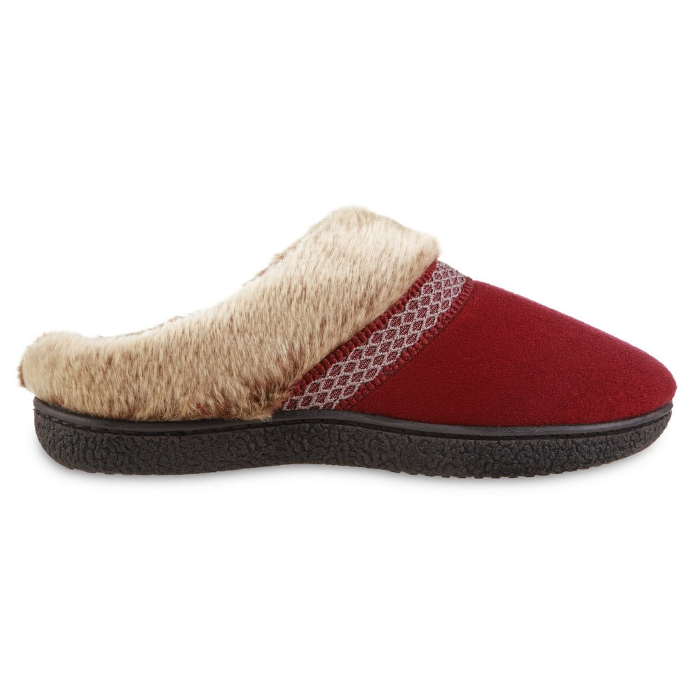 Women's Recycled Microsuede Mallory Hoodback Slippers in Chili Red Profile