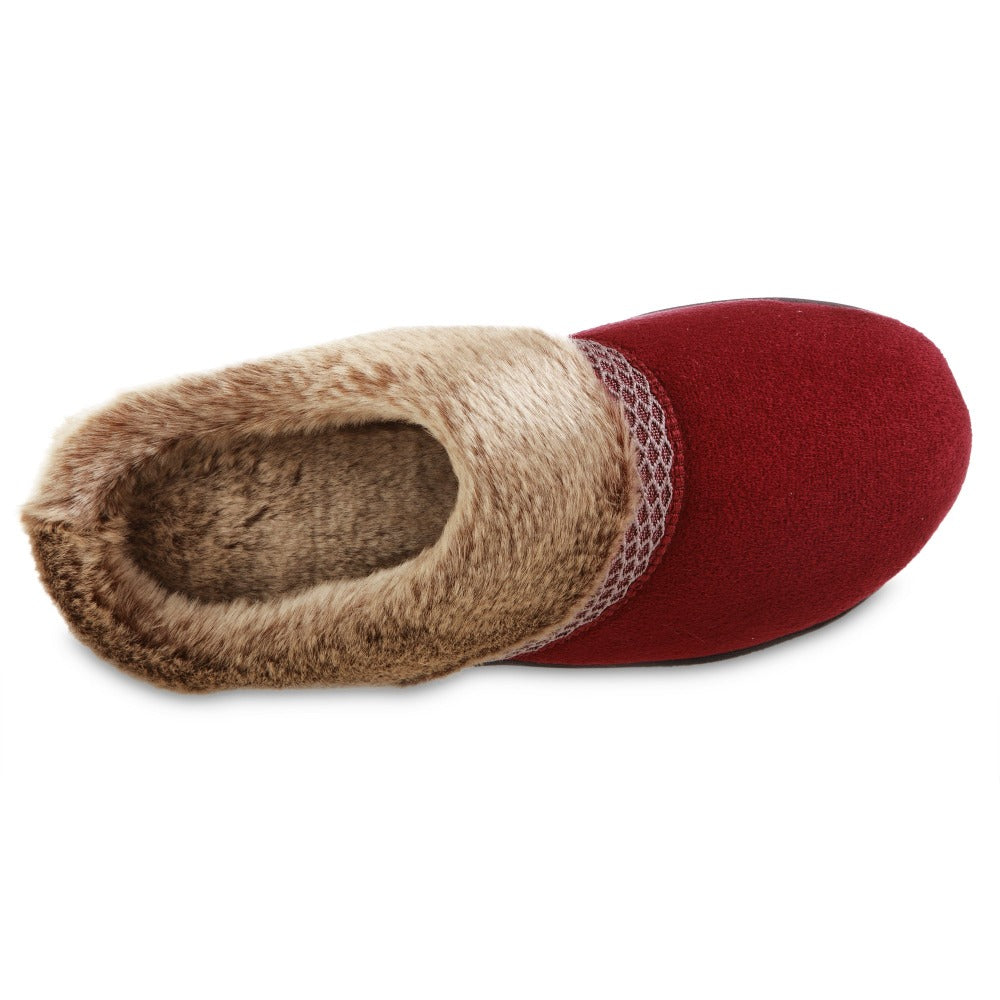 Women's Recycled Microsuede Mallory Hoodback Slippers in Chili Red Inside Top view