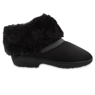 Women's Recycled Microsuede Mallory Boot Slippers in Black Profile