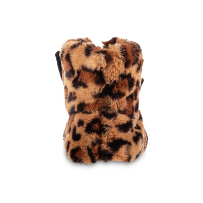 Women's Faux Fur and Satin Tabby Boot Slippers