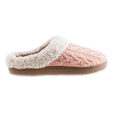 Women's Cable Knit Alexis Hoodback Slippers in Evening Sand Profile