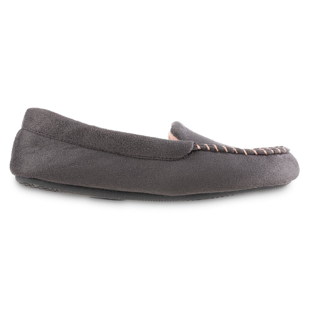 Women's Microsuede Noela Moccasin Slippers in Ash Profile
