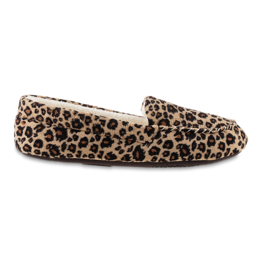 Women's Microsuede Noela Moccasin Slippers in Cheetah Profile