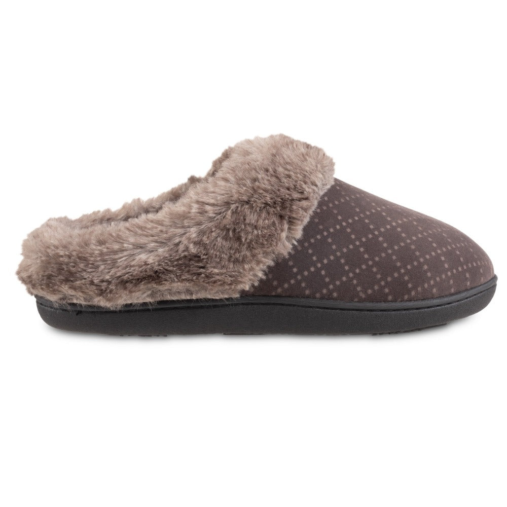 Women's Velour Sabrine Hoodback Slippers in Mineral Profile