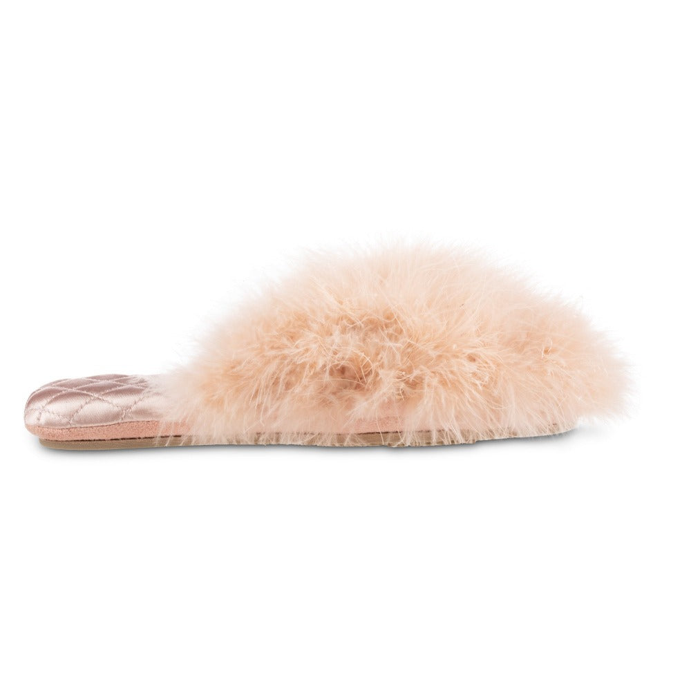 Women's Feather Sofia Scuff Slippers in Evening Sand Pink Profile