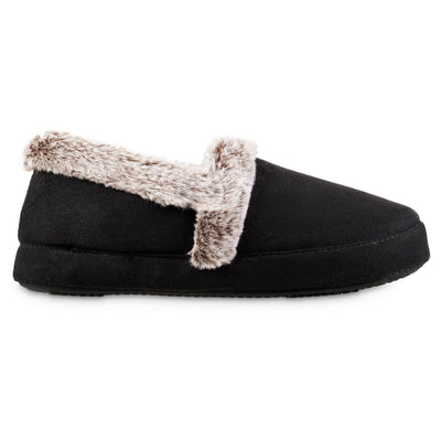 Women's Recycled Microsuede A Line Slippers in Black Profile