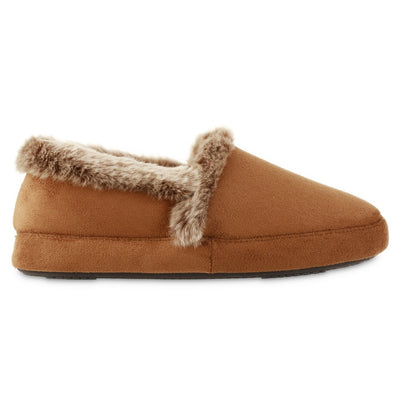 Women's Recycled Microsuede A Line Slippers in Cognac Profile