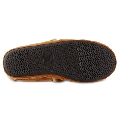 Women's Recycled Microsuede A Line Slippers in Cognac Bottom Sole Tread