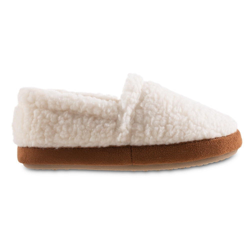 Women's Recycled Fur Moccasin Slippers in Ewe Profile