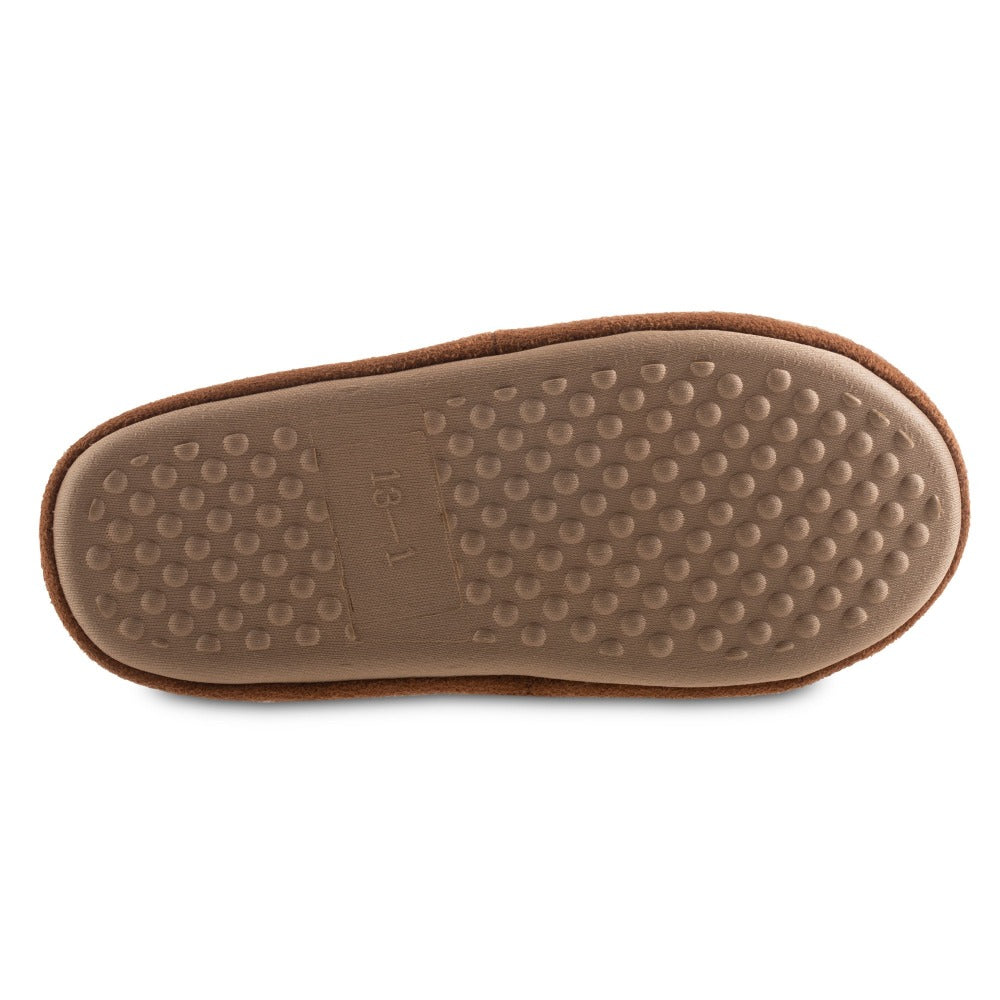 Women's Recycled Fur Moccasin Slippers in Ewe Bottom Sole Tread