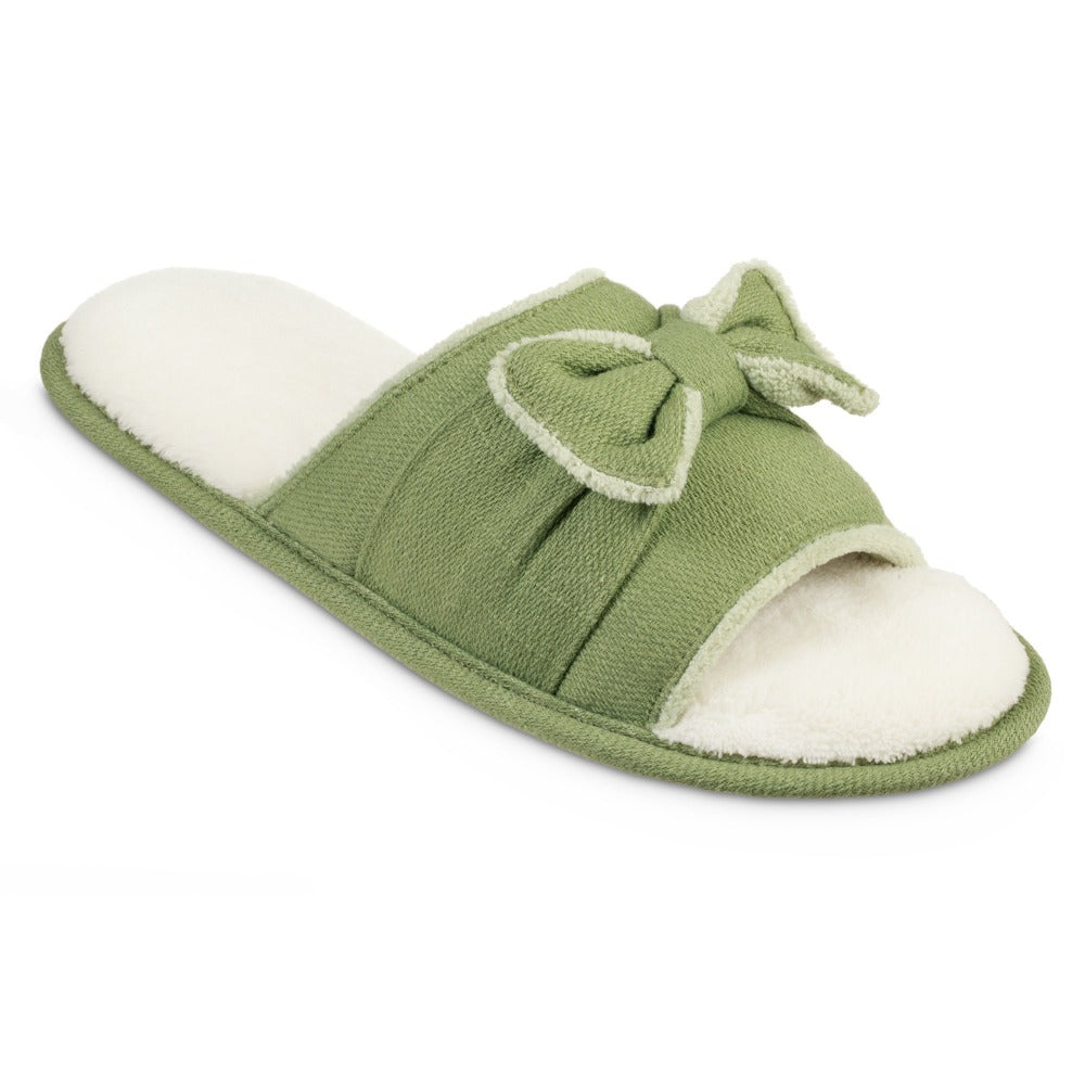 Women's Recycled Woven Petunia Slide Slipper in Desert Sage Right Angled View