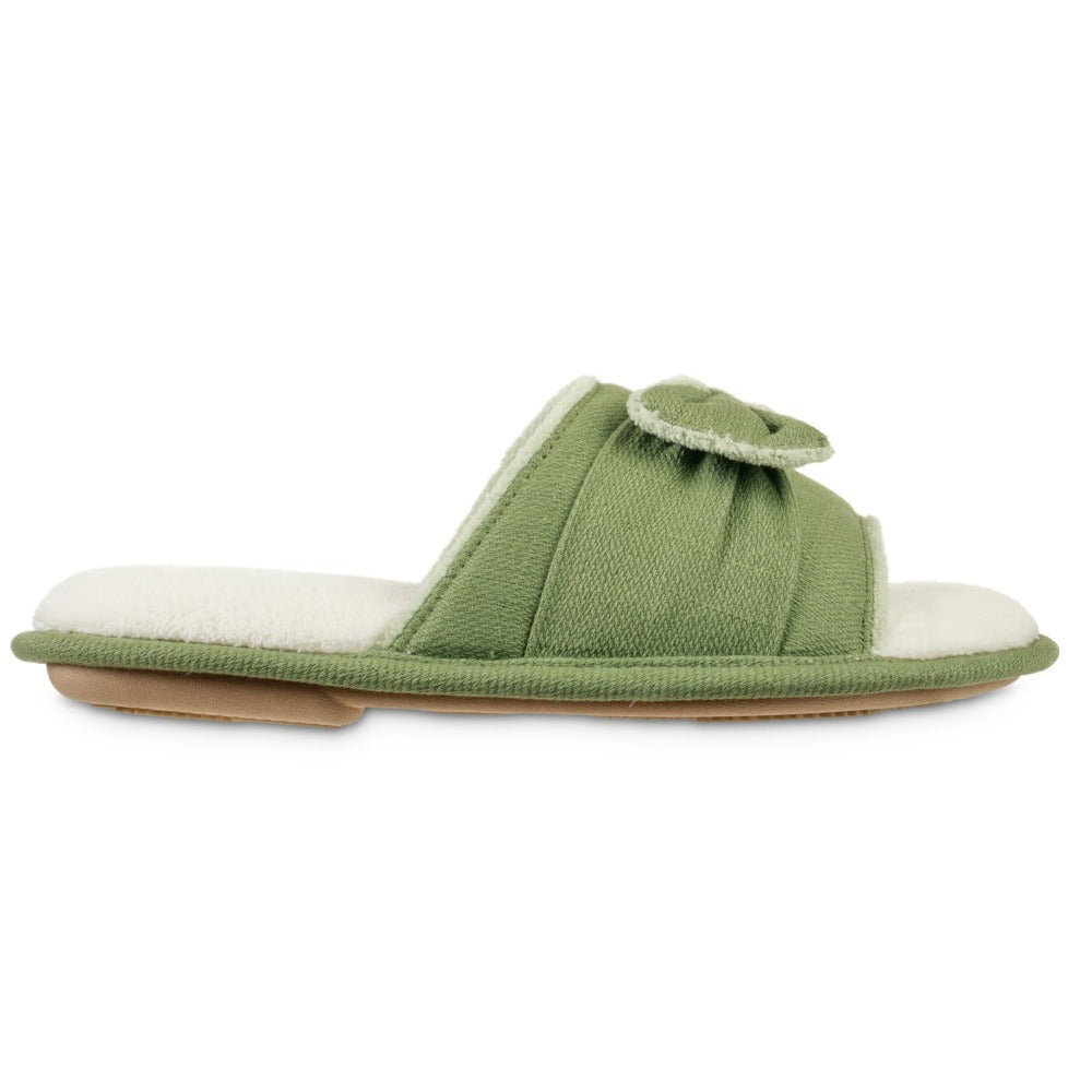 Women's Recycled Woven Petunia Slide Slipper in Desert Sage Profile