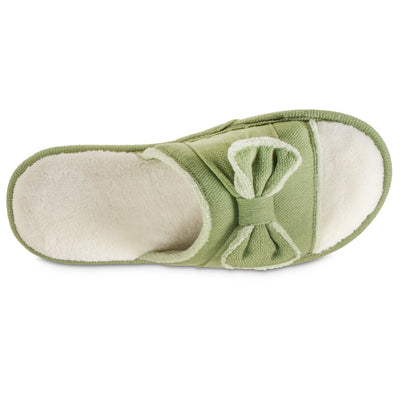 Women's Recycled Woven Petunia Slide Slipper in Desert Sage Inside Top View