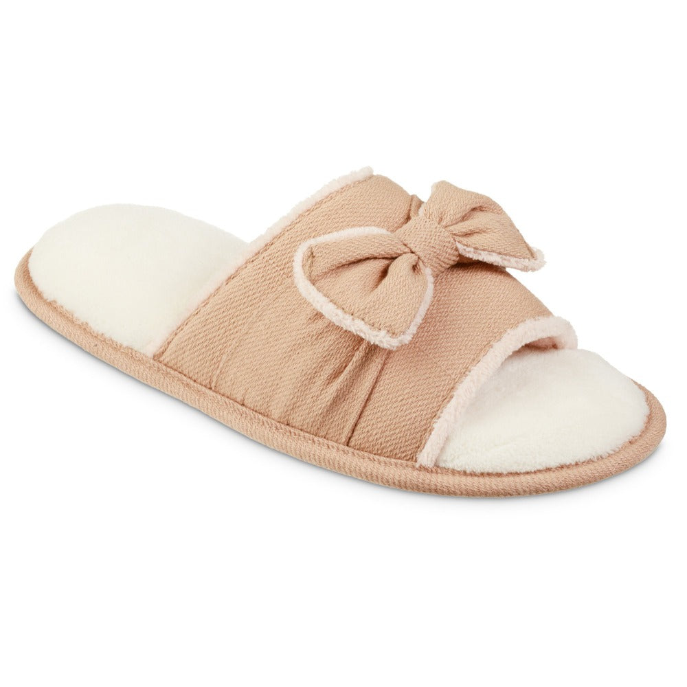 Women's Recycled Woven Petunia Slide Slipper in Evening Sands Pink Right Angled View