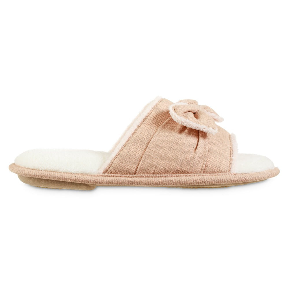 Women's Recycled Woven Petunia Slide Slipper in Evening Sands Pink Profile