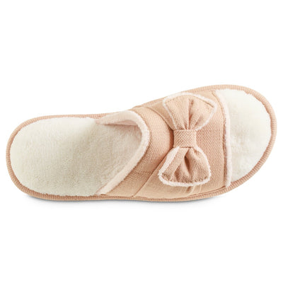 Women's Recycled Woven Petunia Slide Slipper in Evening Sands Pink Inside Top View