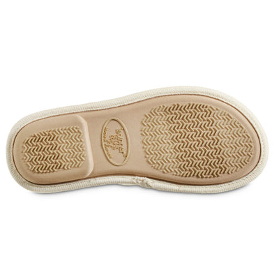 Women's Recycled Woven Petunia Slide Slipper in Ewe Off-White Bottom Sole Tread