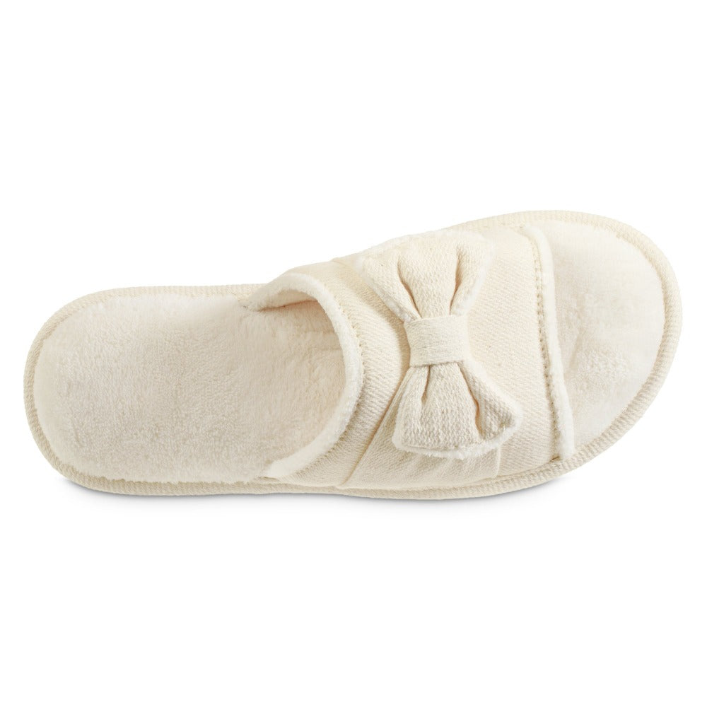 Women's Recycled Woven Petunia Slide Slipper in Ewe Off-White Inside Top View