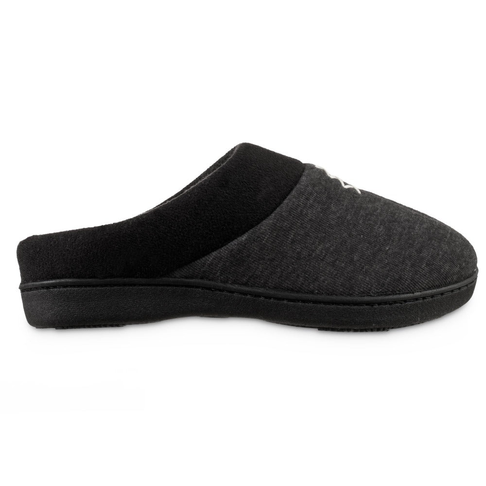 Women's Recycled Heathered Knit Raquel Hoodback Slippers in Black Profile