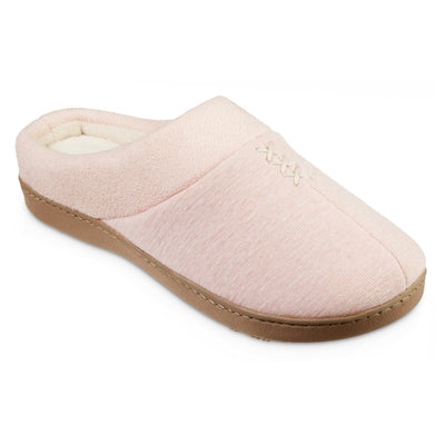Women's Recycled Heathered Knit Raquel Hoodback Slippers in Evening Sands Pink Right Angled View