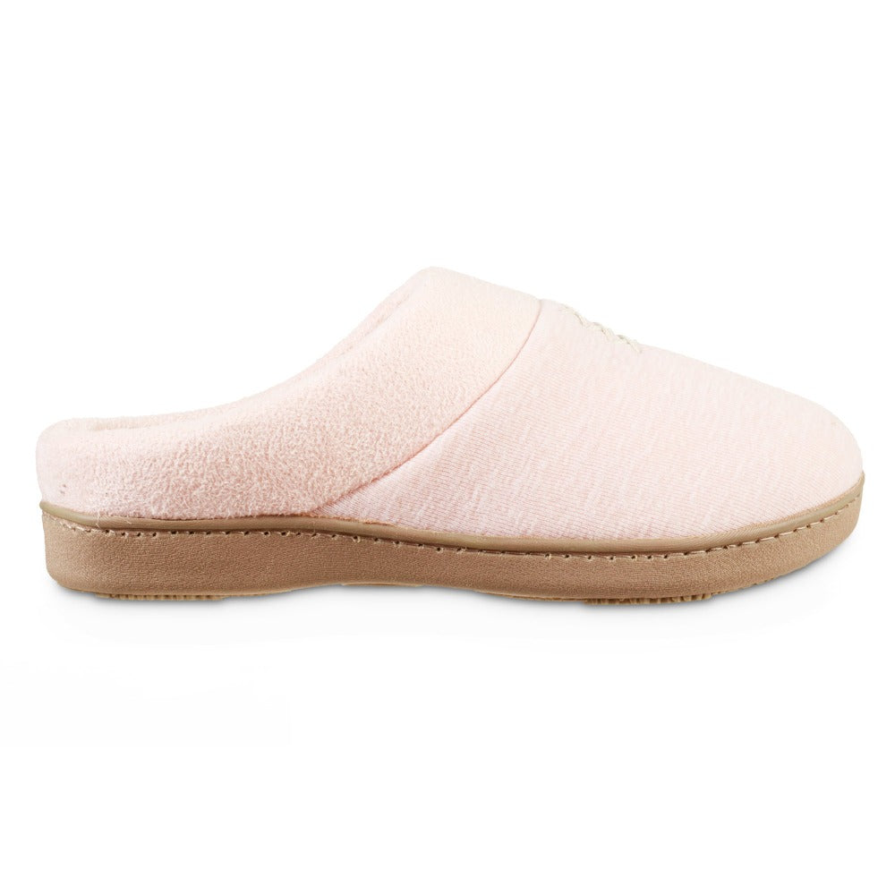 Women's Recycled Heathered Knit Raquel Hoodback Slippers in Evening Sands Pink Profile