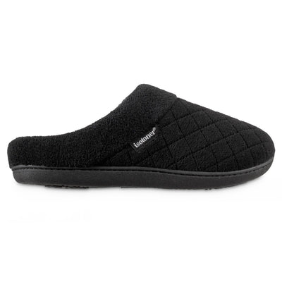 Women's Microterry Milly Hoodback Slippers in Black Profile