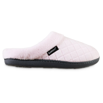 Women's Microterry Milly Hoodback Slippers in Peony Light Pink Profile