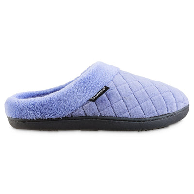 Women's Microterry Milly Hoodback Slippers in Periwinkle Blue Profile