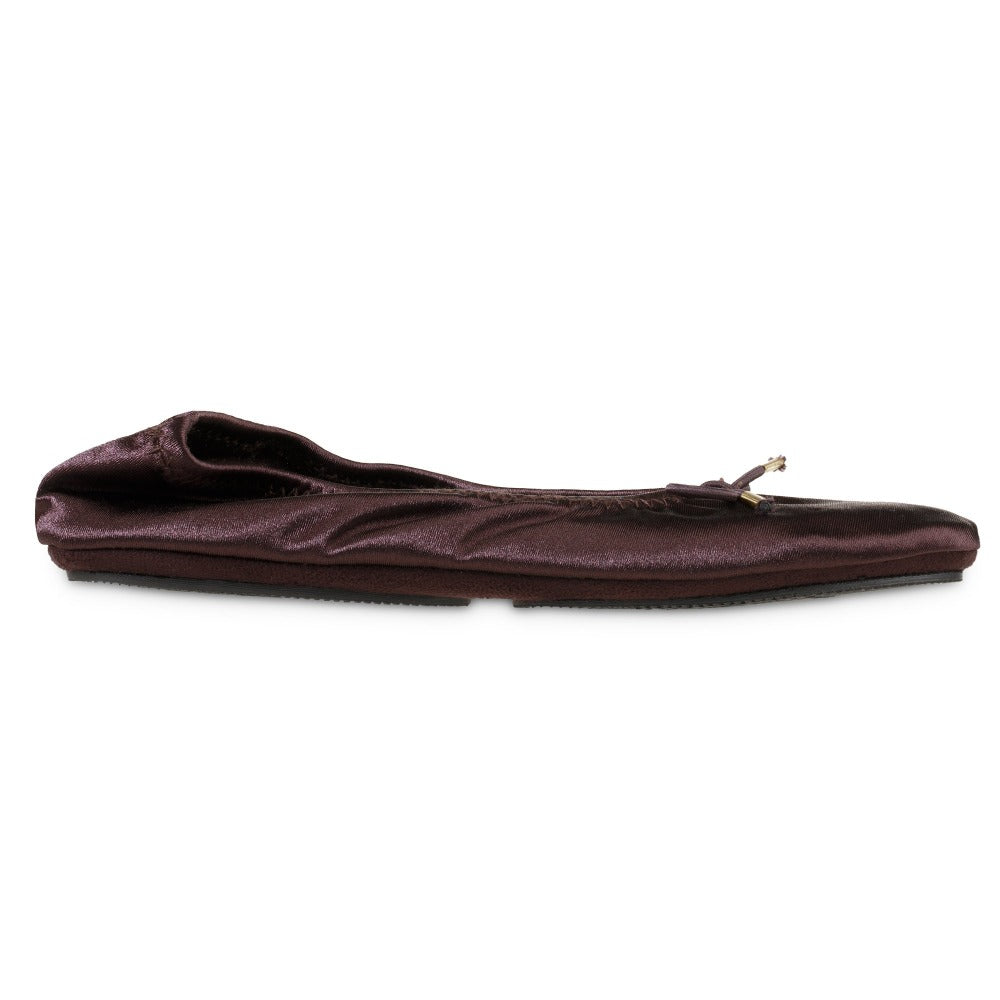 Women's Sloan Printed Ballerina Slippers in Raisin/Dark Maroon Profile