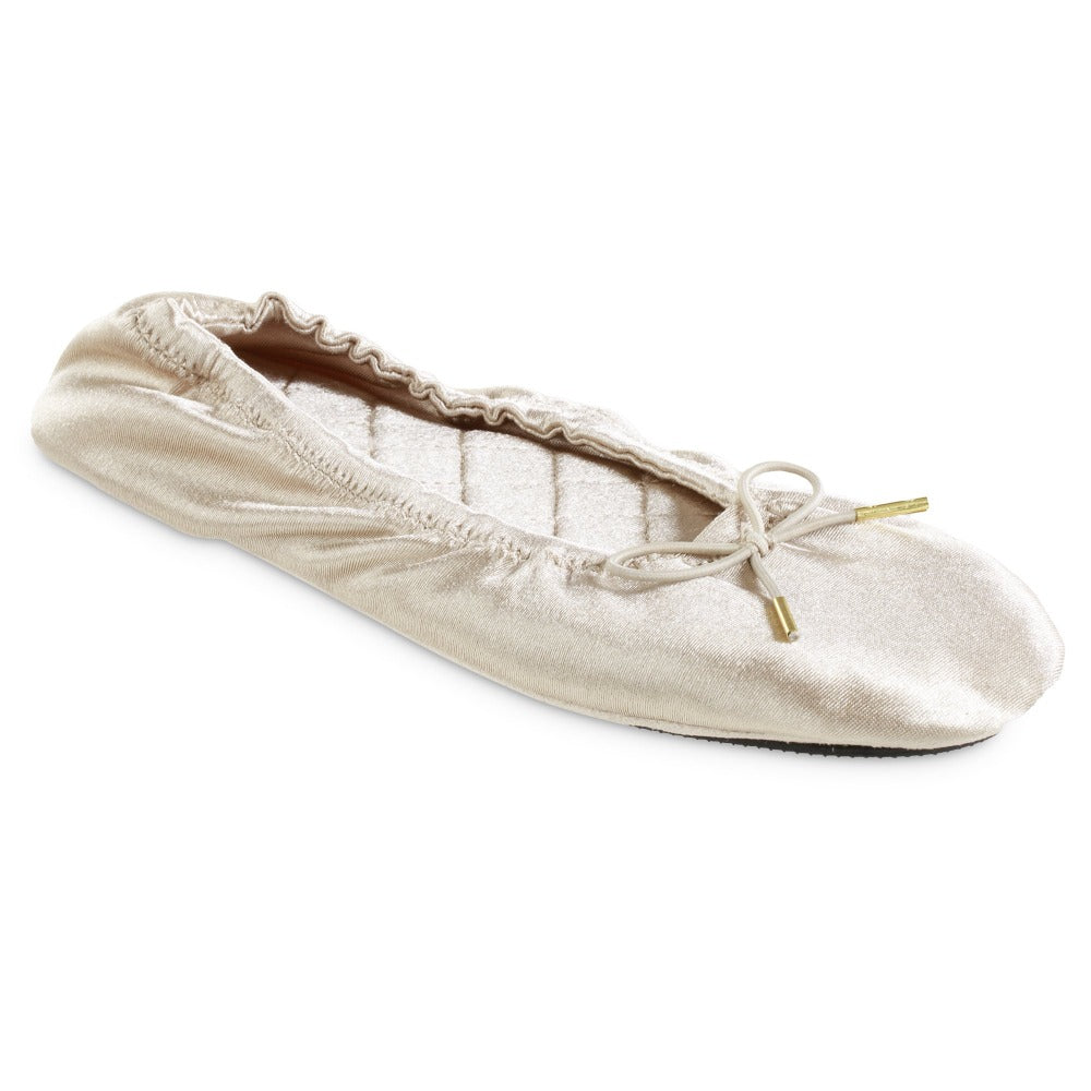 Women's Sloan Printed Ballerina Slippers in Sandtrap Off-White Right Angled View