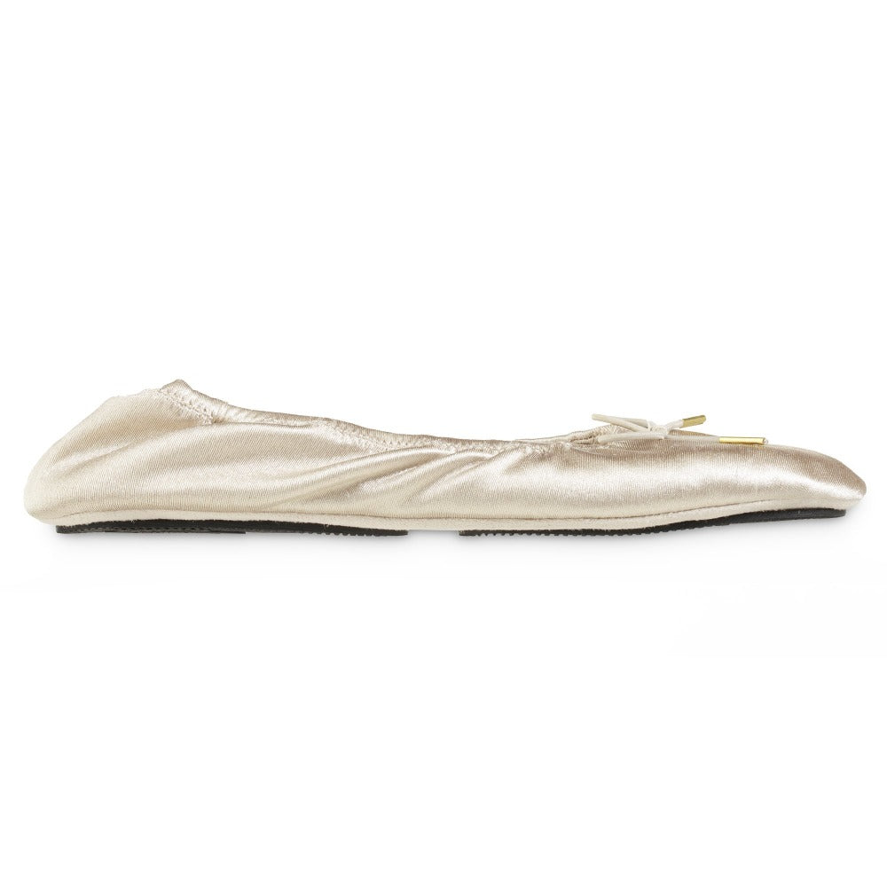 Women's Sloan Printed Ballerina Slippers in Sandtrap Off-White Profile
