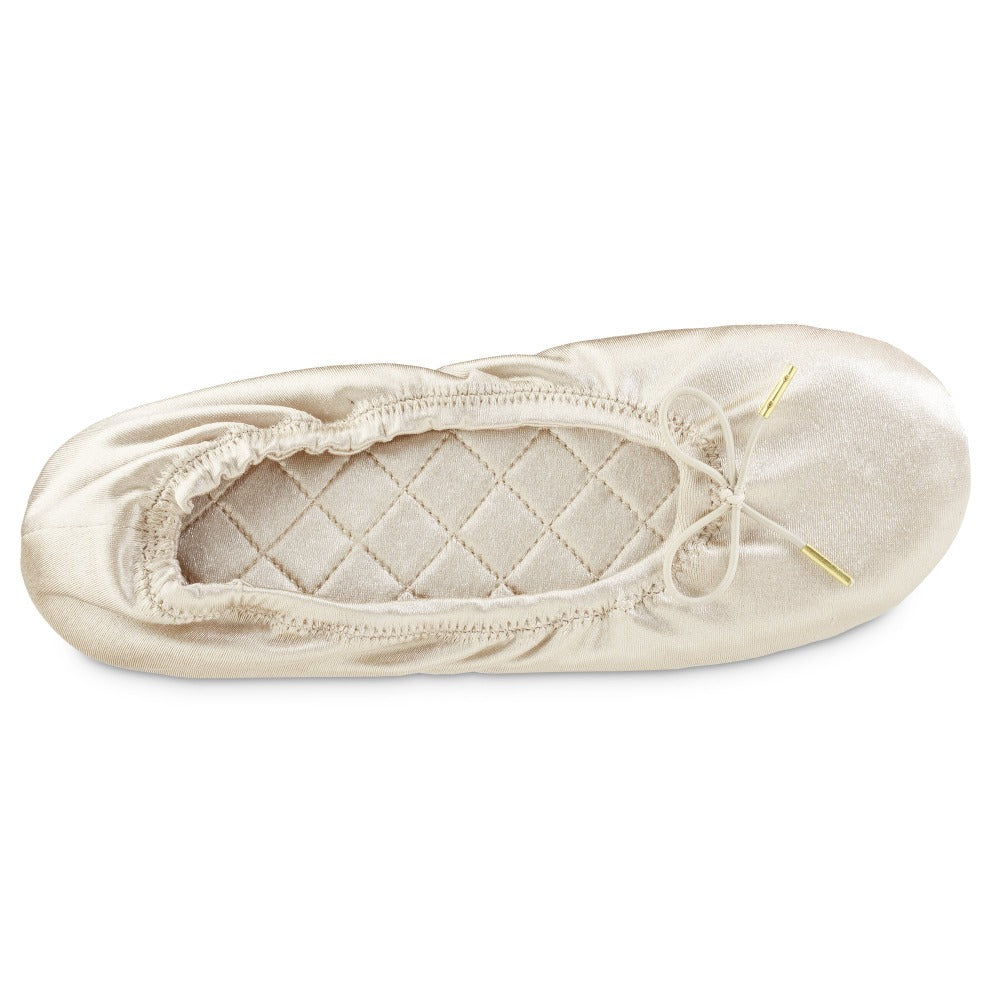 Women's Sloan Printed Ballerina Slippers in Sandtrap Off-White Inside Top View