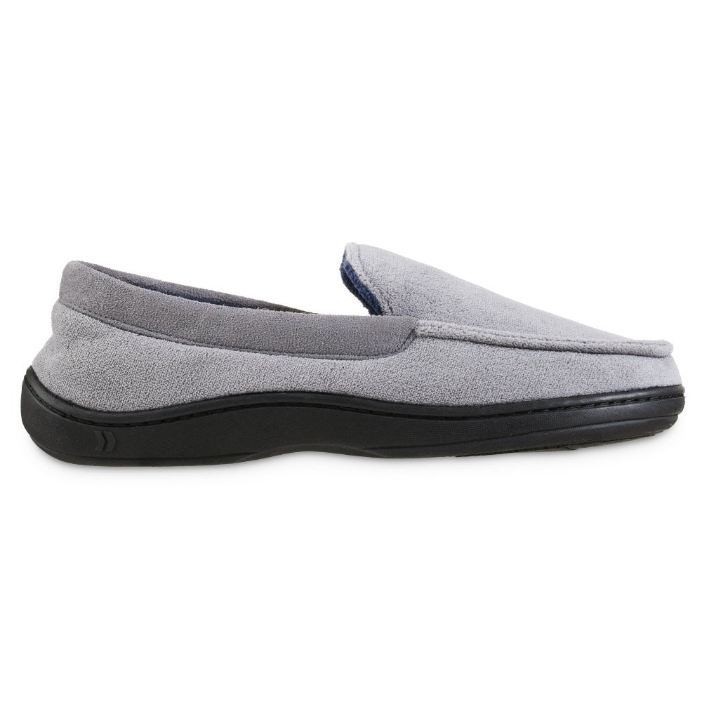 Men's Microterry Jared Moccasin Slippers in Ash Profile