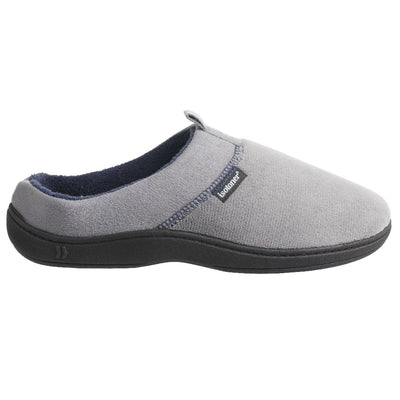 Men's Microterry Jared Hoodback Slippers in Ash Profile