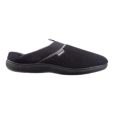 Men's Microterry Jared Hoodback Slippers in Black Profile