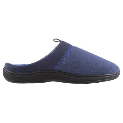 Men's Microterry Jared Hoodback Slippers in Navy Blue Profile