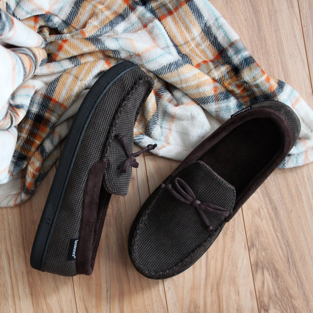 Men's Mini Box Cord Luke Moccasin with Lacing Lifestyle Image