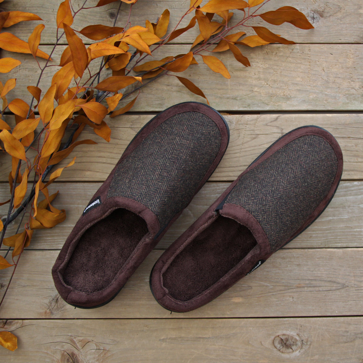 Men's Logan Microsuede Hoodback Slippers Lifestyle Image