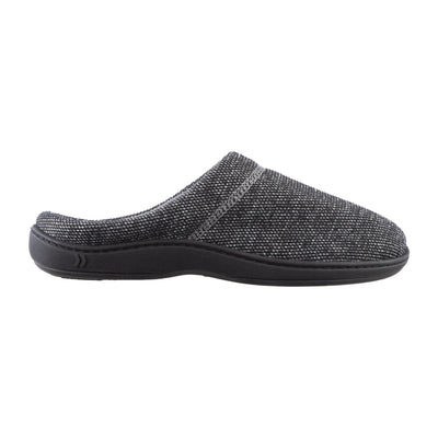 Men's Javier Mesh Hoodback Slippers Black Profile