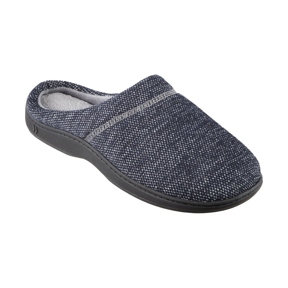 Men's Javier Mesh Hoodback Slippers Navy Blue Right Angled View