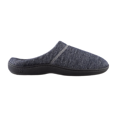 Men's Javier Mesh Hoodback Slippers in Navy Blue Profile