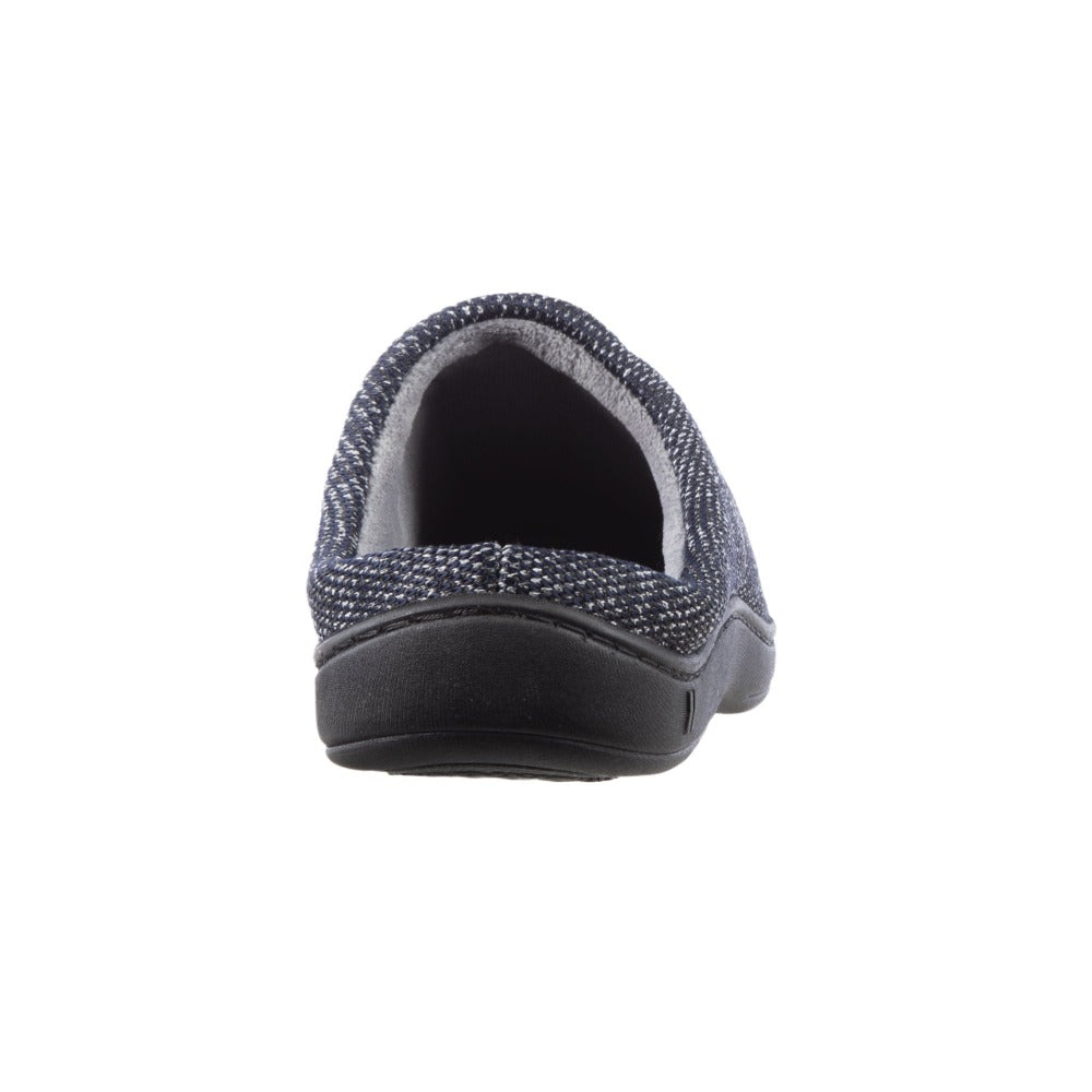 Men's Javier Mesh Hoodback Slippers Navy Blue Back Heel