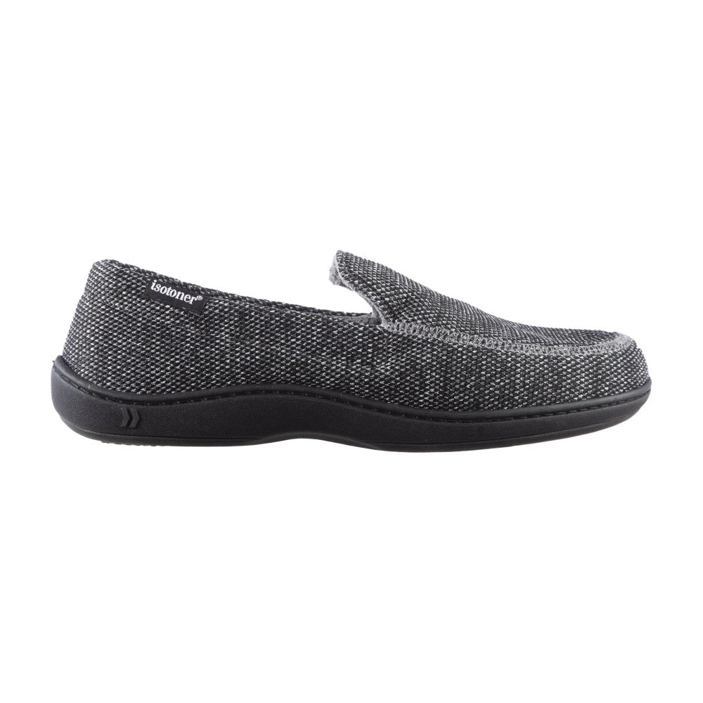 Men's Javier Mesh Closed Back Slippers in Black