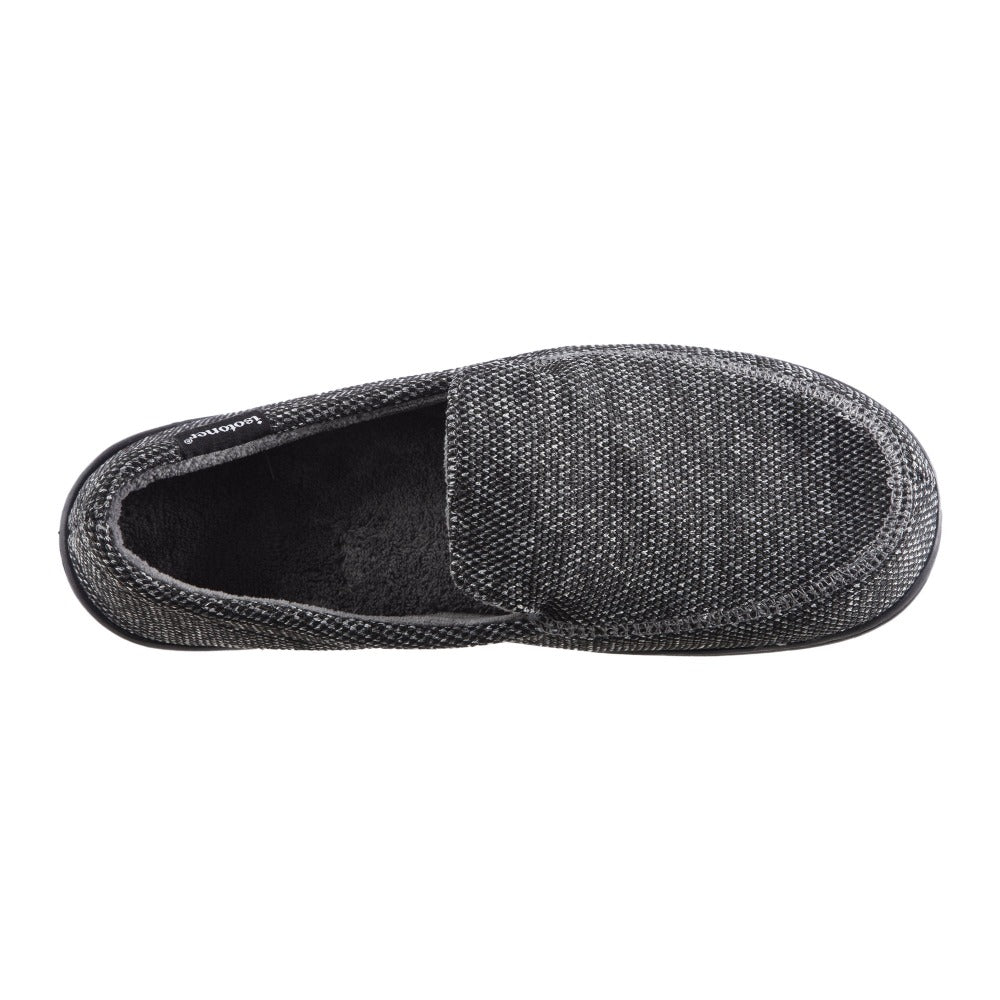 Men's Javier Mesh Closed Back Slippers in Black Top View